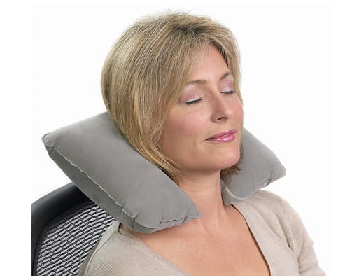 Inflatable Neck Pillow Gray